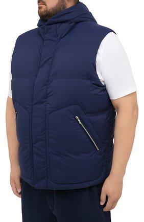 Мужской утепленный жилет CORTIGIANI синего цвета, арт. 218602/0000/60-70 | Фото 3 (Кросс-КТ: Куртка, Пуховик; Big sizes: Big Sizes; Материал внешний: Синтетический материал; Материал подклада: Синтетический материал; Длина (верхняя одежда): Короткие; Стили: Кэжуэл)