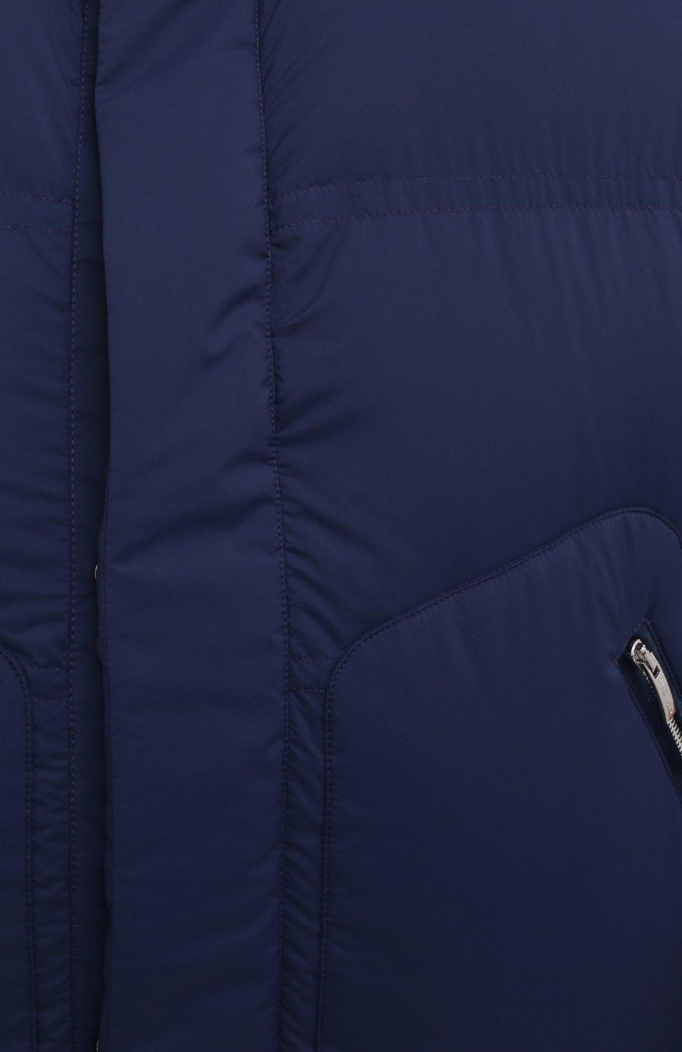 Мужской утепленный жилет CORTIGIANI синего цвета, арт. 218602/0000/60-70 | Фото 5 (Кросс-КТ: Куртка, Пуховик; Big sizes: Big Sizes; Материал внешний: Синтетический материал; Материал подклада: Синтетический материал; Длина (верхняя одежда): Короткие; Стили: Кэжуэл)