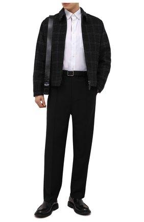 Мужская куртка из шерсти и кашемира BURBERRY темно-серого цвета, арт. 8041385   Фото 2