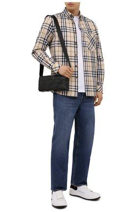 Мужская хлопковая рубашка BURBERRY бежевого цвета, арт. 8042838 | Фото 2