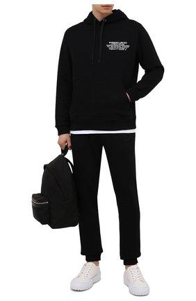 Мужской хлопковое худи BURBERRY черного цвета, арт. 8042753 | Фото 2