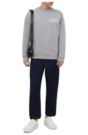 Мужской хлопковый свитшот BURBERRY серого цвета, арт. 8042752 | Фото 2