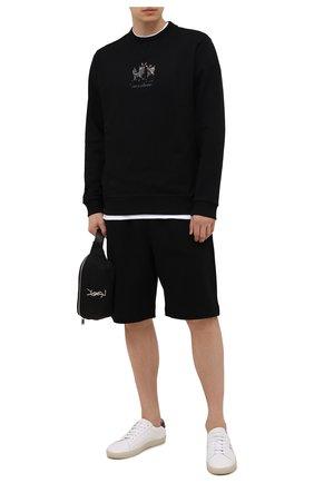 Мужской хлопковый свитшот BURBERRY черного цвета, арт. 8042689 | Фото 2