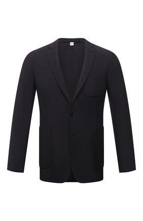 Мужской шерстяной пиджак BURBERRY темно-синего цвета, арт. 8042295   Фото 1