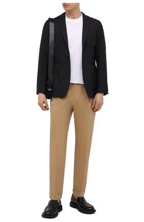 Мужской шерстяной пиджак BURBERRY темно-синего цвета, арт. 8042295   Фото 2