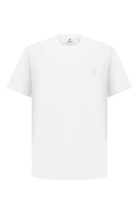 Мужская хлопковая футболка BURBERRY белого цвета, арт. 8041699 | Фото 1 (Материал внешний: Хлопок; Длина (для топов): Стандартные; Принт: Без принта; Стили: Кэжуэл; Рукава: Короткие)