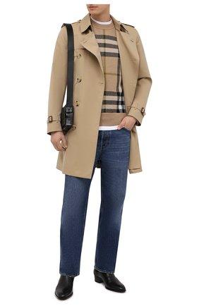 Мужской кашемировый свитер BURBERRY бежевого цвета, арт. 8041286 | Фото 2