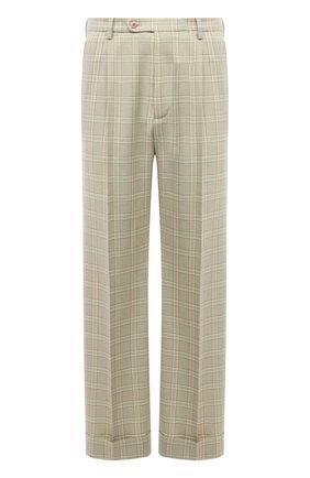 Мужские шерстяные брюки GUCCI бежевого цвета, арт. 653360/ZAFVF | Фото 1