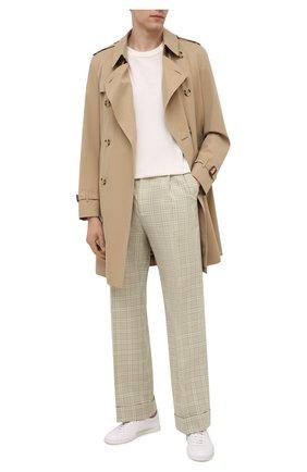 Мужские шерстяные брюки GUCCI бежевого цвета, арт. 653360/ZAFVF | Фото 2