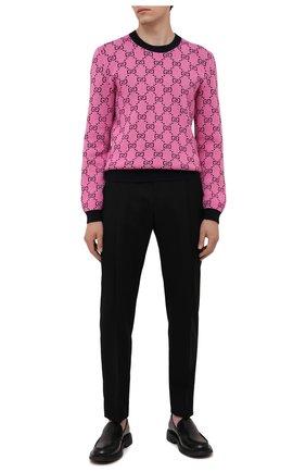 Мужской свитер из шерсти и хлопка GUCCI розового цвета, арт. 661174/XKBXI | Фото 2