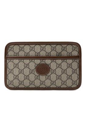 Мужская сумка gg supreme GUCCI коричневого цвета, арт. 658572/92TCG | Фото 1