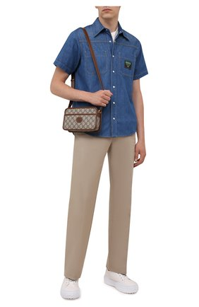Мужская сумка gg supreme GUCCI коричневого цвета, арт. 658572/92TCG | Фото 2