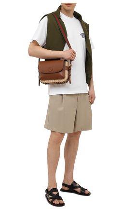 Мужская сумка GUCCI бежевого цвета, арт. 655608/JCIAT | Фото 2
