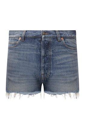 Мужские джинсовые шорты GUCCI темно-синего цвета, арт. 654271/XDBLY | Фото 1