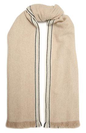 Мужской кашемировый шарф BRUNELLO CUCINELLI бежевого цвета, арт. MSC658AG | Фото 1