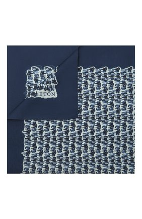 Мужской платок из хлопка и шелка ETON синего цвета, арт. A000 32969 | Фото 1