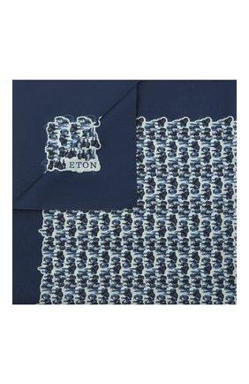 Мужской платок из хлопка и шелка ETON синего цвета, арт. A000 32969   Фото 1