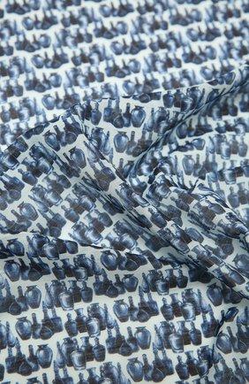 Мужской платок из хлопка и шелка ETON синего цвета, арт. A000 32969 | Фото 2