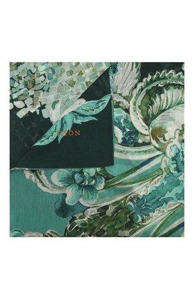 Мужской платок из хлопка и шелка ETON зеленого цвета, арт. A000 32970 | Фото 1