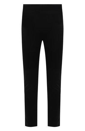 Мужские брюки из вискозы и хлопка ALEXANDER MCQUEEN черного цвета, арт. 656485/QRX52 | Фото 1 (Материал внешний: Хлопок, Вискоза; Длина (брюки, джинсы): Стандартные; Случай: Повседневный; Стили: Спорт-шик)