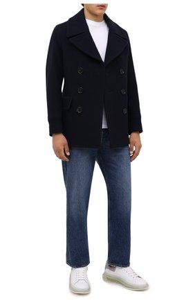 Мужские кожаные кеды ALEXANDER MCQUEEN белого цвета, арт. 662659/WIA4T | Фото 2