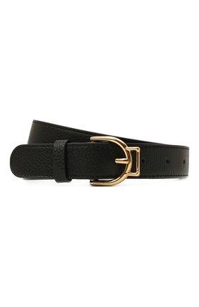 Женский кожаный ремень COCCINELLE черного цвета, арт. E3 IZ5 11 36 01   Фото 1