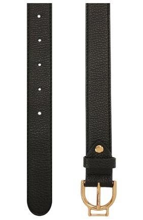 Женский кожаный ремень COCCINELLE черного цвета, арт. E3 IZ5 11 36 01   Фото 2