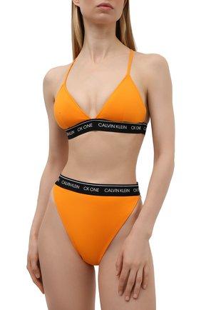Женский треугольный бра CALVIN KLEIN оранжевого цвета, арт. KW0KW01409   Фото 2