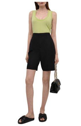 Женские кожаные шлепанцы BALENCIAGA черного цвета, арт. 653904/WA2M3 | Фото 2
