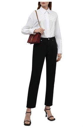 Женская хлопковая рубашка BURBERRY белого цвета, арт. 8043169 | Фото 2