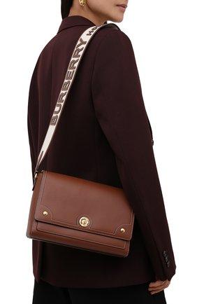 Женская сумка note medium BURBERRY коричневого цвета, арт. 8043055 | Фото 2