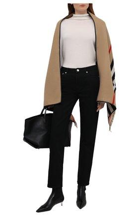 Женская шаль из шерсти и кашемира BURBERRY бежевого цвета, арт. 8019415 | Фото 2