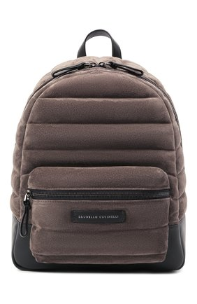 Женский рюкзак BRUNELLO CUCINELLI коричневого цвета, арт. MBDLD2348 | Фото 1