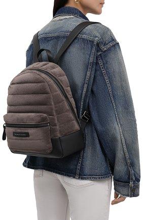 Женский рюкзак BRUNELLO CUCINELLI темно-бежевого цвета, арт. MBDLD2348   Фото 2 (Материал: Натуральная кожа, Натуральная замша; Стили: Кэжуэл; Размер: medium)