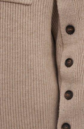 Женское кашемировое платье BRUNELLO CUCINELLI бежевого цвета, арт. M12714A94 | Фото 5 (Материал внешний: Шерсть, Кашемир; Рукава: Длинные; Длина Ж (юбки, платья, шорты): Мини; Случай: Повседневный; Кросс-КТ: Трикотаж; Женское Кросс-КТ: Платье-одежда; Стили: Кэжуэл)