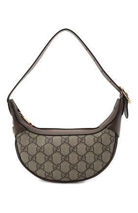 Женская сумка ophidia mini GUCCI коричневого цвета, арт. 658551/96IWG   Фото 1 (Материал: Экокожа, Текстиль; Сумки-технические: Сумки top-handle; Размер: mini)