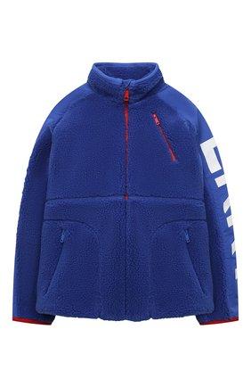 Детского куртка BURBERRY синего цвета, арт. 8040901 | Фото 1