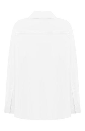 Детская хлопковая рубашка BURBERRY белого цвета, арт. 8040989 | Фото 2