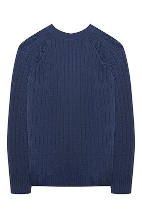 Детский шерстяной кардиган GUCCI синего цвета, арт. 653620/XKBWI | Фото 2 (Материал внешний: Шерсть; Мальчики Кросс-КТ: Кардиган-одежда; Рукава: Длинные; Ростовка одежда: 10 - 11 лет | 140 - 146см, 5 лет | 110 см, 6 лет | 116 см)