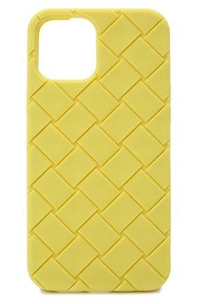Чехол для iphone 12 pro max BOTTEGA VENETA салатового цвета, арт. 670185/V0EY0 | Фото 1