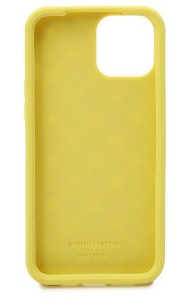 Чехол для iphone 12 pro max BOTTEGA VENETA салатового цвета, арт. 670185/V0EY0 | Фото 2