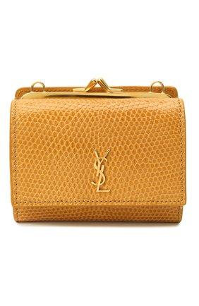 Женская поясная сумка kate SAINT LAURENT бежевого цвета, арт. 660786/LVD4J/VSAL | Фото 1 (Размер: mini; Ремень/цепочка: С цепочкой, На ремешке; Стили: Кэжуэл)