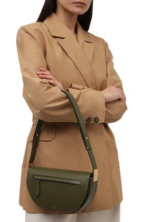 Женская сумка olympia small BURBERRY хаки цвета, арт. 8042445 | Фото 2 (Материал: Натуральная кожа; Сумки-технические: Сумки через плечо; Ремень/цепочка: На ремешке; Размер: small)
