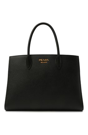 Женский сумка-тоут PRADA черного цвета, арт. 1BA153-2ERX-F0D9A-OOF   Фото 1
