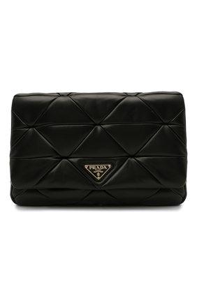 Женская сумка system PRADA черного цвета, арт. 1BD291-2DMO-F0002-L9O   Фото 1