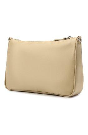 Женская сумка PRADA светло-бежевого цвета, арт. 1BH168-R064-F0F24-OOT   Фото 2 (Сумки-технические: Сумки через плечо; Ремень/цепочка: На ремешке; Размер: small; Материал: Текстиль)