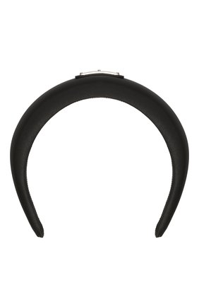 Женский ободок для волос PRADA черного цвета, арт. 1IH016-2DMI-F0002   Фото 1