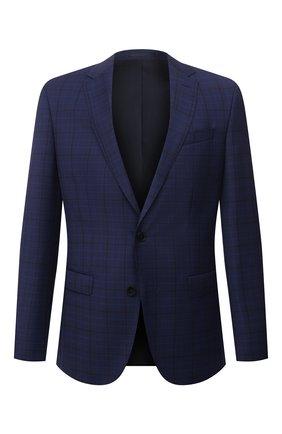 Мужской шерстяной пиджак BOSS синего цвета, арт. 50453782 | Фото 1