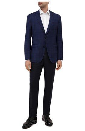 Мужской шерстяной пиджак BOSS синего цвета, арт. 50453782 | Фото 2