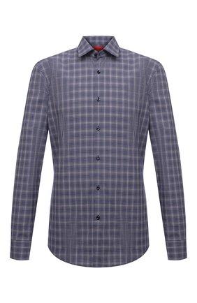 Мужская хлопковая сорочка HUGO синего цвета, арт. 50453417 | Фото 1